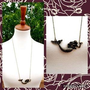 +new+ boutique bronze sea siren necklace